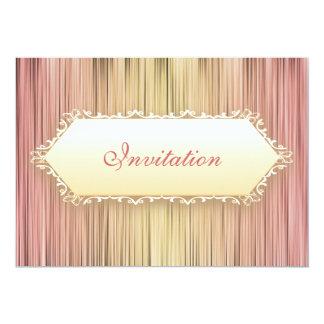 Elegant Events Peaches & Cream Curtain 5x7 Paper Invitation Card