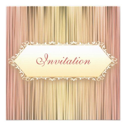 Elegant Events Peaches & Cream Curtain Announcements