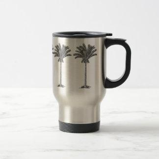 Elegant Exotic Foxtail Palm Trees Island Paradise Travel Mug