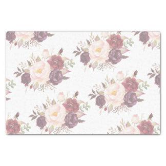 Elegant Faded Floral Wedding Invitation Tissue Paper