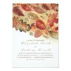 Elegant Fall Leaves and Glitter Wedding Card