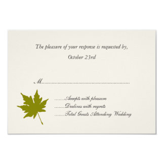 Elegant Fall Wedding Response Cards Personalized Announcement