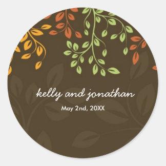 Elegant Fall Wedding Stickers