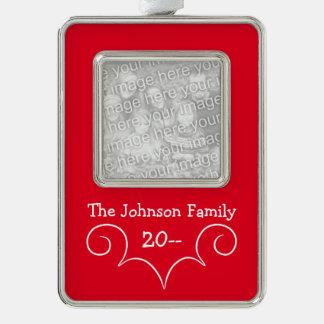 Elegant family Christmas Silver Plated Framed Ornament