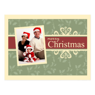 Elegant Family Photo Christmas Postcards