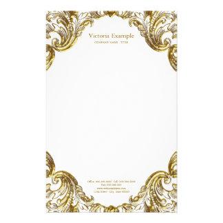 Elegant Fancy Gold Swirl Stationery