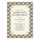 Elegant Fans Art Deco Retirement Party Cream Card