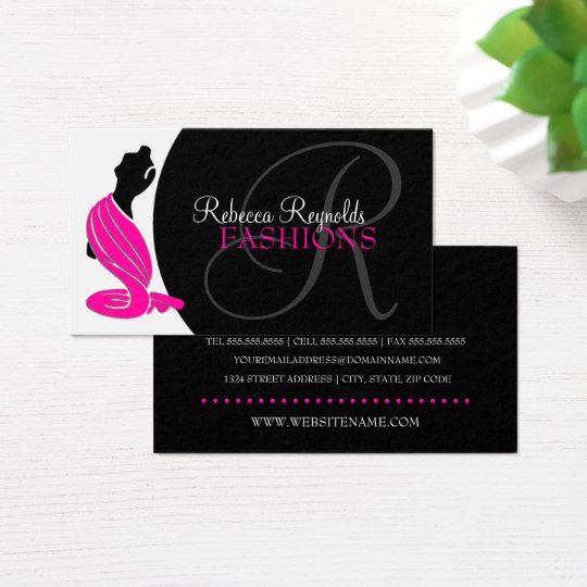 Elegant Fashion Designer Business Card