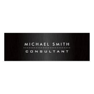 Elegant Fashion Designer Professional Modern Black Business Card