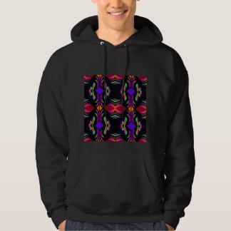 Elegant Fashion Sweatshirt for Her - Rainbow/Black