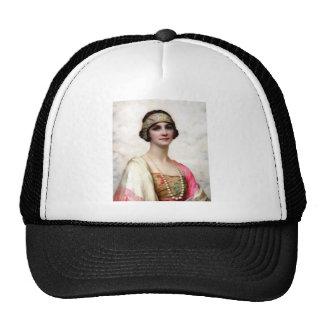 Elegant Fashion Woman painting Hat
