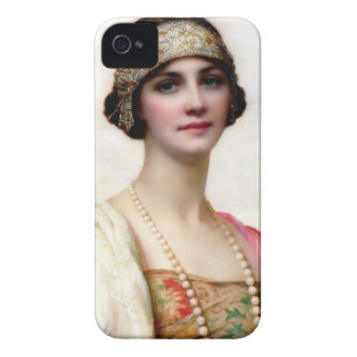 Elegant Fashion Woman painting iPhone 4 Cover