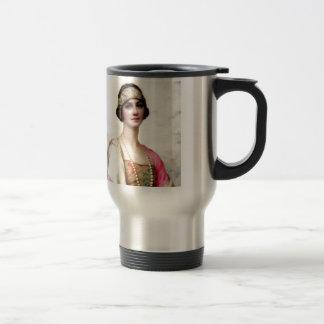 Elegant Fashion Woman painting Stainless Steel Travel Mug