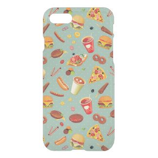 Elegant Fast Food Pattern iPhone 7 Case