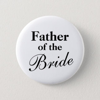 Elegant Father of the bride buttons   White