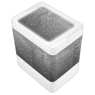 Elegant Faux Black Glitter Cooler