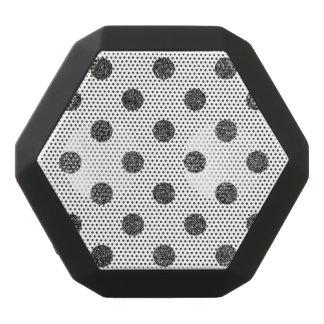 Elegant Faux Black Glitter Polka Dots Pattern Black Bluetooth Speaker