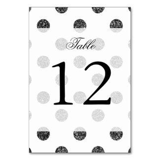 Elegant Faux Black Glitter Polka Dots Pattern Card