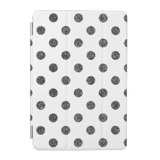 Elegant Faux Black Glitter Polka Dots Pattern iPad Mini Cover