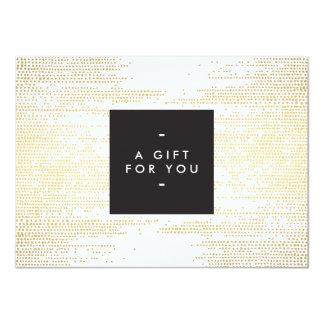Elegant Faux Gold Confetti Dots Gift Certificate 11 Cm X 16 Cm Invitation Card