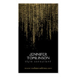 Elegant Faux Gold Confetti Dots on Black Pack Of Standard Business Cards