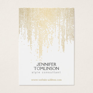 Elegant Faux Gold Confetti Dots on White Large