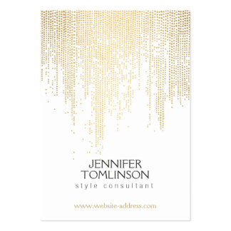 Elegant Faux Gold Confetti Dots on White Large Pack Of Chubby Business Cards