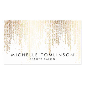 Elegant Faux Gold Confetti Dots Pack Of Standard Business Cards