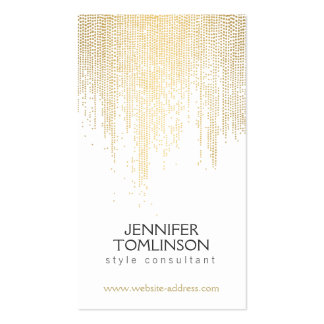 Elegant Faux Gold Confetti Dots Pattern Pack Of Standard Business Cards