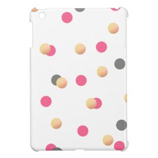 elegant faux gold foil grey pink confetti dots iPad mini cover