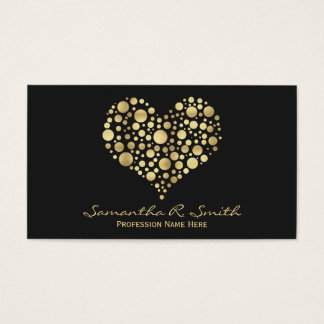 Elegant Faux Gold Foil Heart Business Card