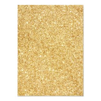 Elegant Faux Gold Glitter 11 Cm X 16 Cm Invitation Card