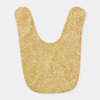 Elegant Faux Gold Glitter Bib