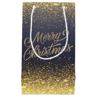 Elegant Faux Gold Glitter Christmas | Gift Bag