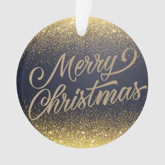 Elegant Faux Gold Glitter Christmas | Ornament
