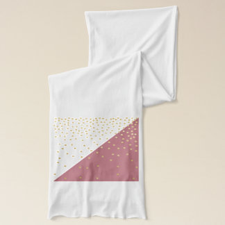 elegant faux gold glitter polka dots dusty pink scarf