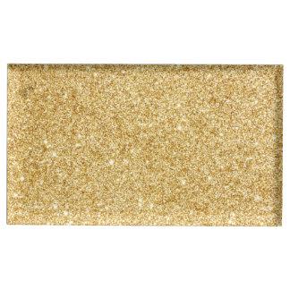 Elegant Faux Gold Glitter Table Card Holders