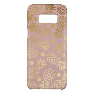 elegant faux gold pineapple pattern polka dots Case-Mate samsung galaxy s8 case