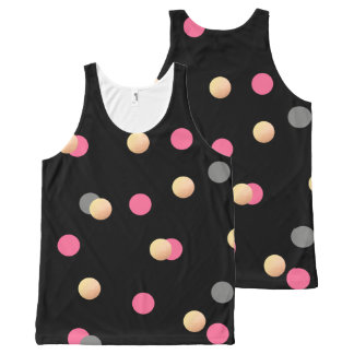 elegant faux gold pink grey confetti dots pattern All-Over print singlet