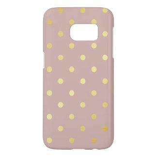 elegant faux gold pink polka dots