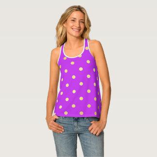 elegant faux gold purple polka dots singlet