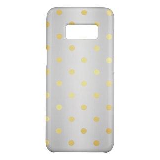 elegant faux gold silver polka dots Case-Mate samsung galaxy s8 case
