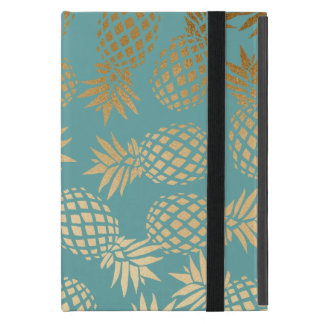 elegant faux gold tropical pineapple pattern cover for iPad mini