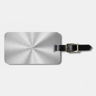 Elegant Faux Metallic Shiny Silver Luggage Tag