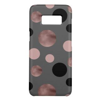 elegant faux rose gold blush pink black circles Case-Mate samsung galaxy s8 case