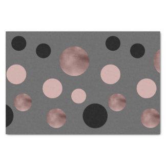 elegant faux rose gold blush pink black circles tissue paper