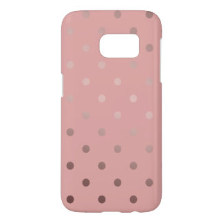 elegant faux rose gold pink polka dots