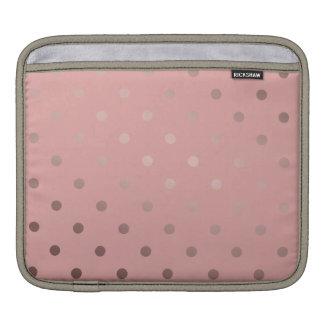 elegant faux rose gold pink polka dots iPad sleeve