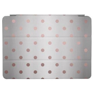 elegant faux rose gold silver polka dots iPad air cover