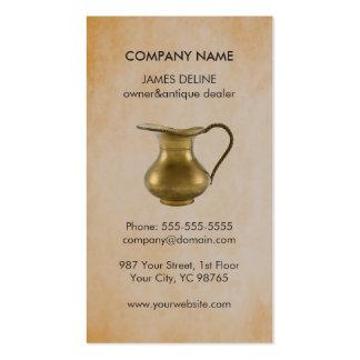 Elegant Faux Rusty Antique Dealer Pitcher Pack Of Standard Business Cards